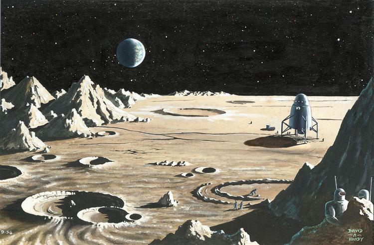 David A. Hardy | Moon Landing 2