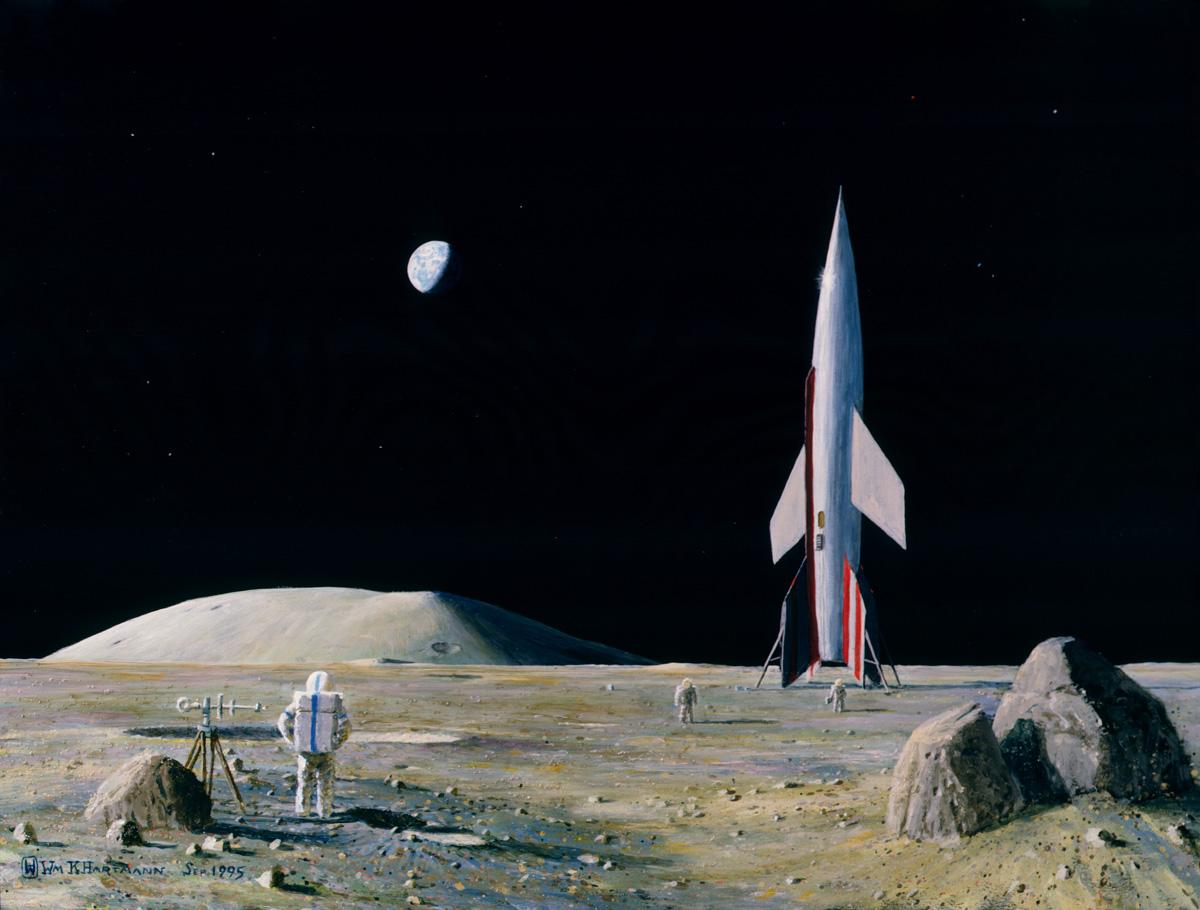 Homage to Bonestell - W. K. Hartmann