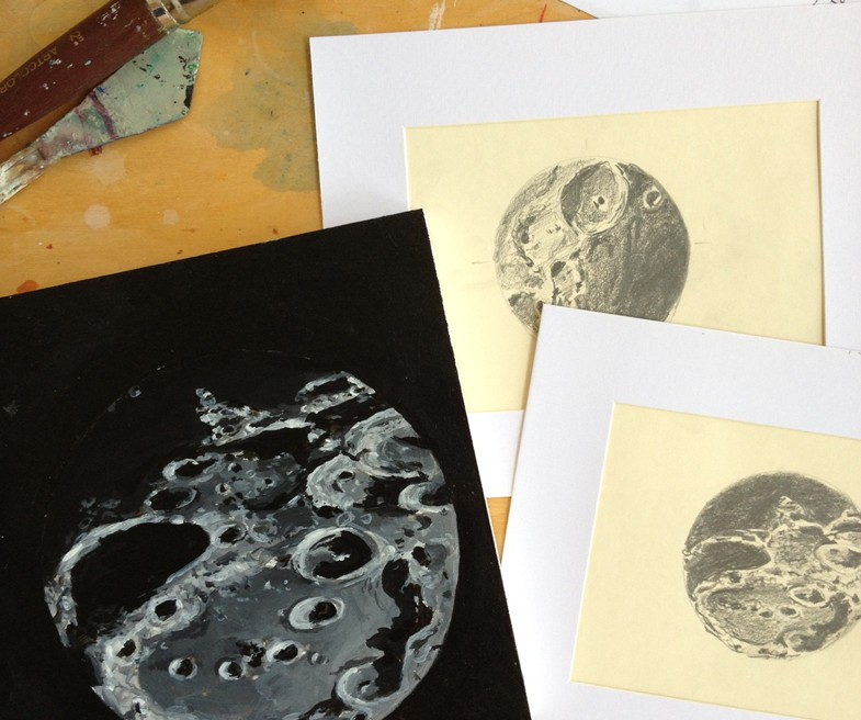 Bettina Forget astronomical sketches